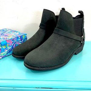 Teva Ellery Black Waterproof Ankle Booties; 9.5